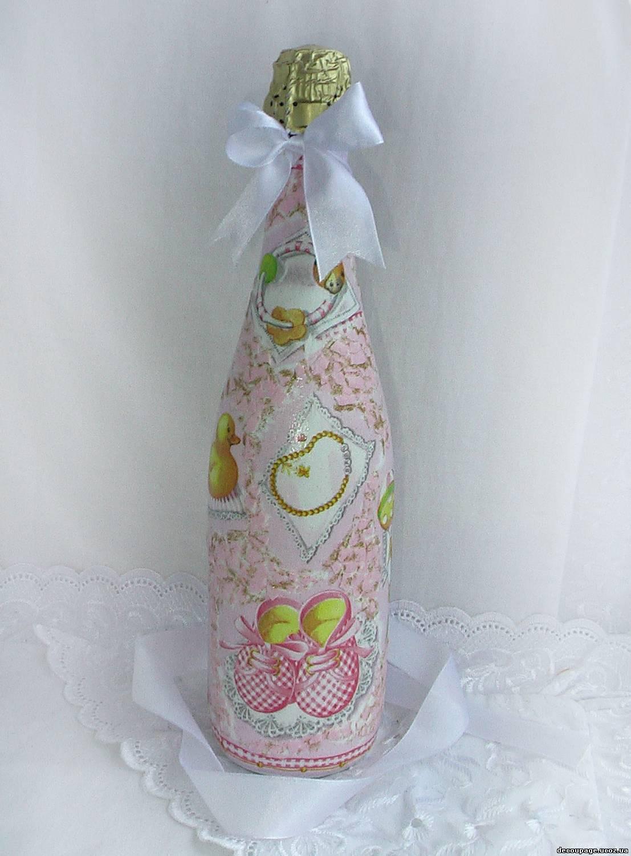 Как украсить бутылку шампанского на Новый год, свадьбу, День 92